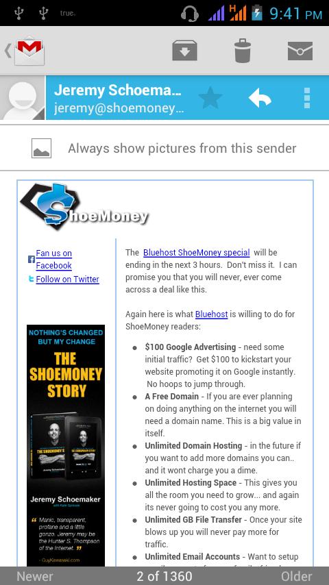 Shoemony email