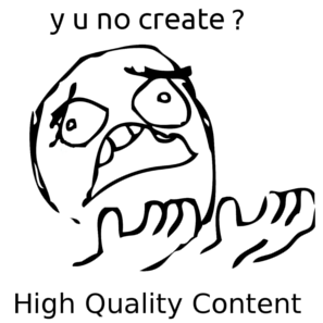 Create high quality content